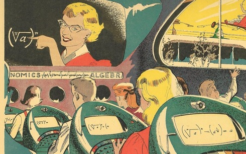 From Paleofuture - Push Button School of Tomorrow, 1958