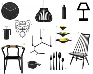 black-accessories-home-furnishings