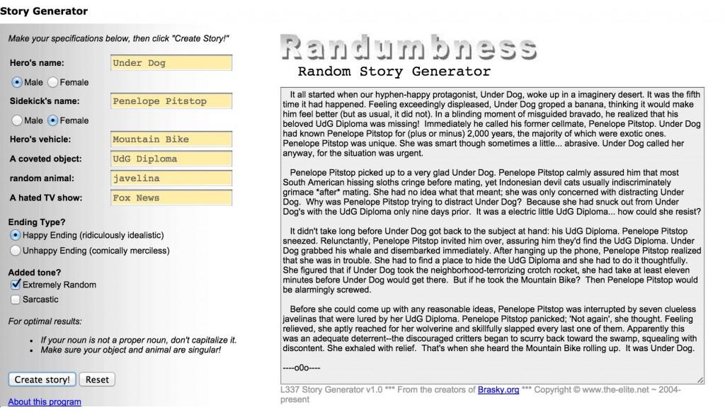 randon story