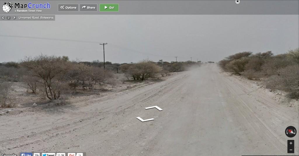 An un-named road in Botswana